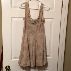 Free People Small beige tan dress NICE